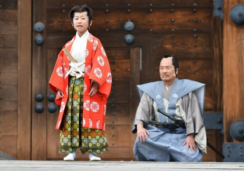 竹千代が駿府城の桜への思いを語る場面